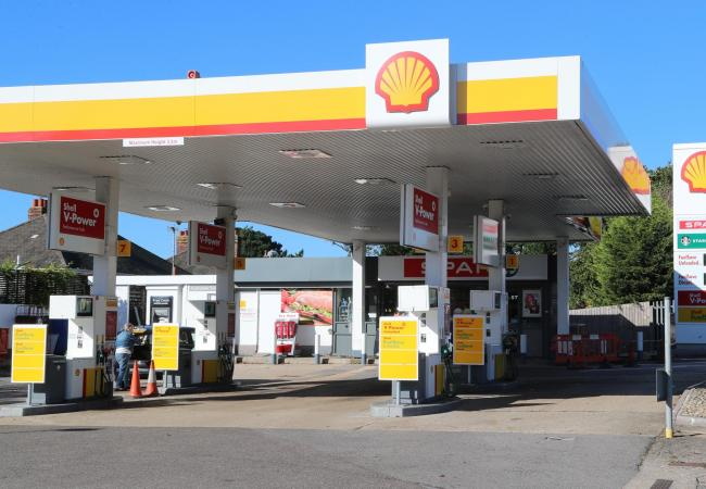 The Shell garage in Barrack Road, Christchurch