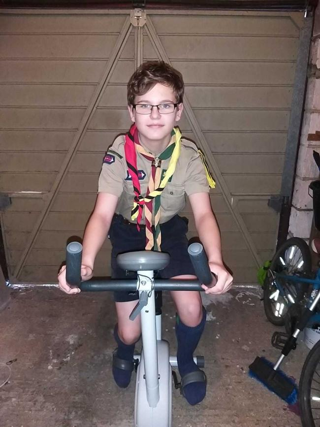 Dylan Good fundraises for scout trip with 6,223 mile virtual cycle from Poole to Uganda
