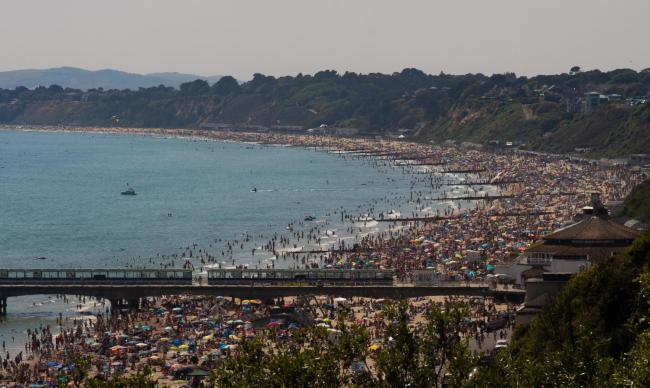 A busy day at Bournemouth beach on Saturday, May 30. Picture by Echo Camera Club Dorset member Sally Scruton