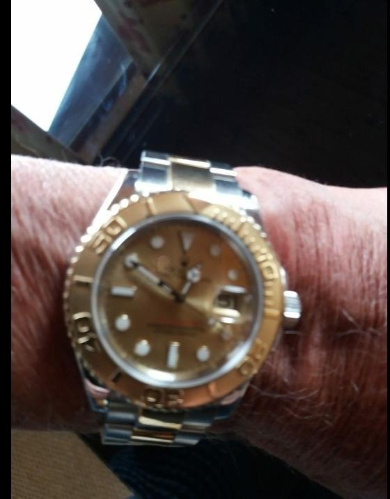 The gold Rolex watch that was stolen from a man aged in his 70s in Somerford Road, Christchurch