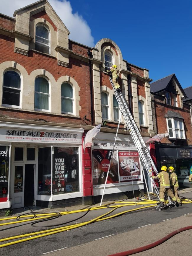 One woman was led to safety after a fire at Station Road, Ashley Cross on Saturday June 6 2020