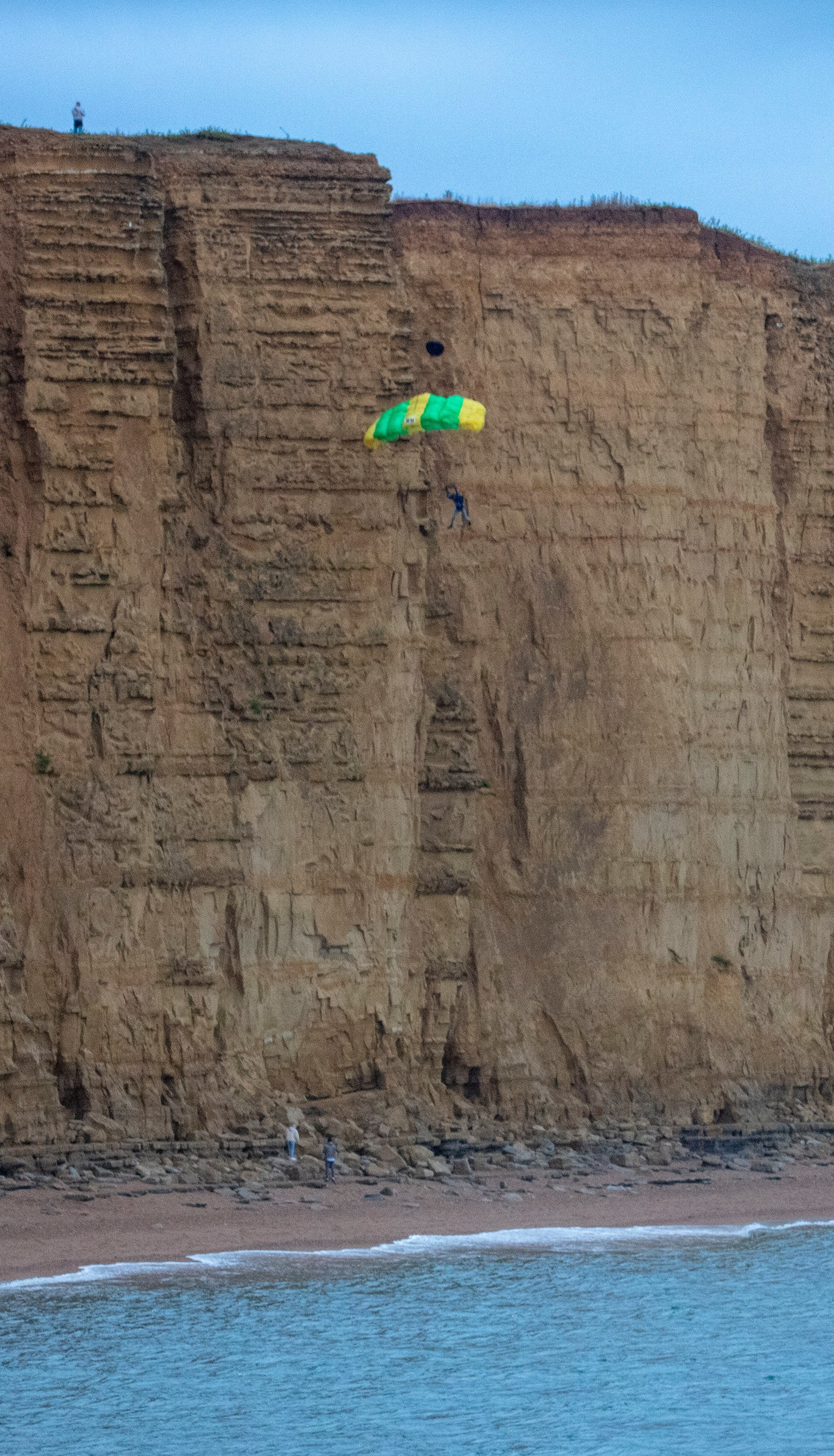 Basejumper shocks walkers by jumping off west Dorset cliff