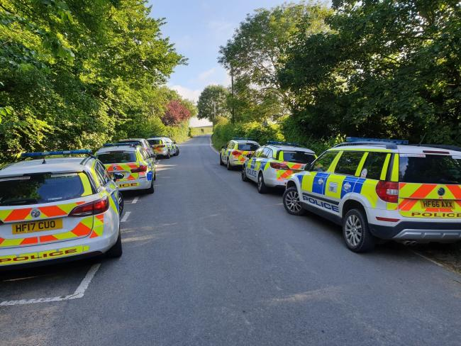Police searched for man in distress in Corfe Castle on June 16 2020. Picture: Purbeck Police