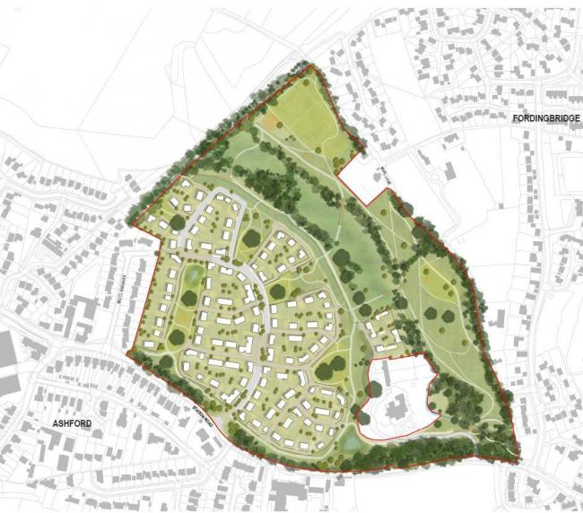 An outline planning application has been submitted for a development on land north of Station Road, Fordingbridge