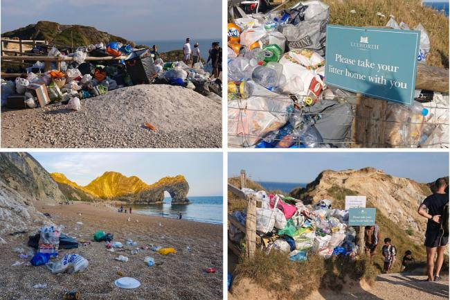 Pictures: The effect of the litter problems at Durdle Door