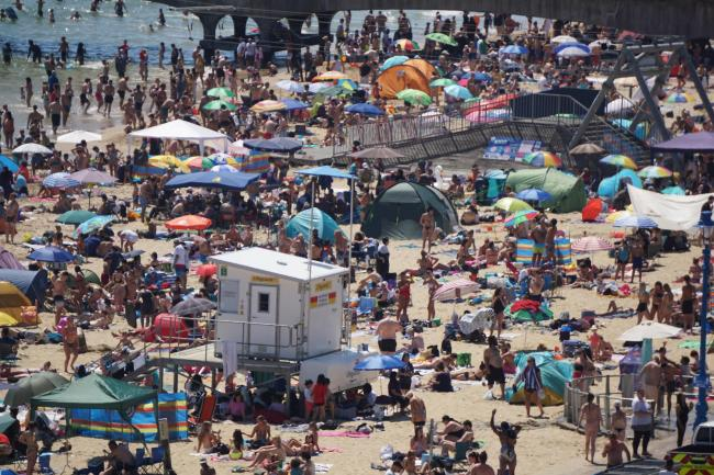Hectic scenes at Bournemouth Beach