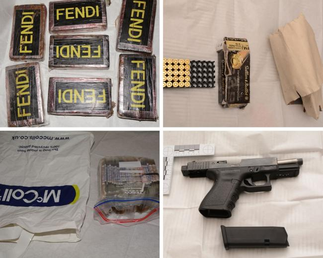 11 arrested for drugs and firearms offences with cash, £300k of class A drugs and firearm seized