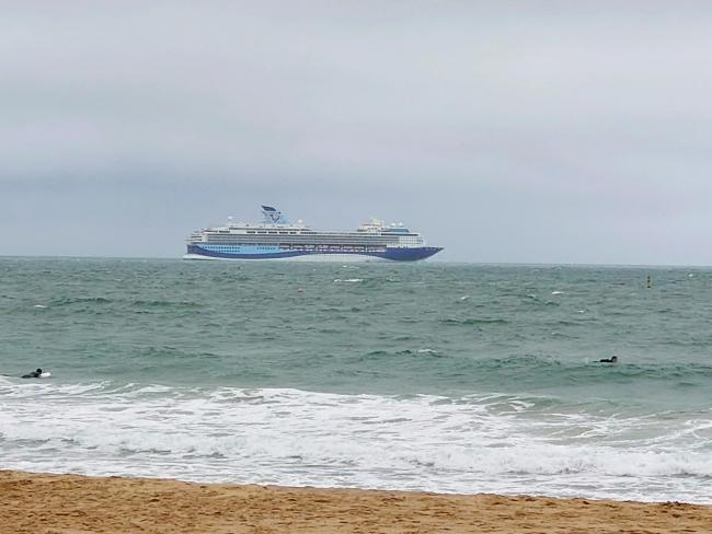 The Marella Explorer cruise ship arrived in Bournemouth on July 3 2020. Picture: Linda Sheppard