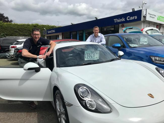 Kristian Robinson, managing director of Think Cars, and Darren Cooper, managing director of the Peter Cooper Motor Group