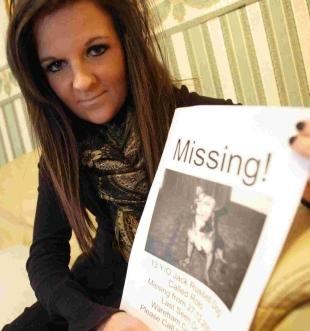 ANXIOUS: Rosina Hughes, whose 13-year-old Jack Russell dog Rolo has been missing since December 27