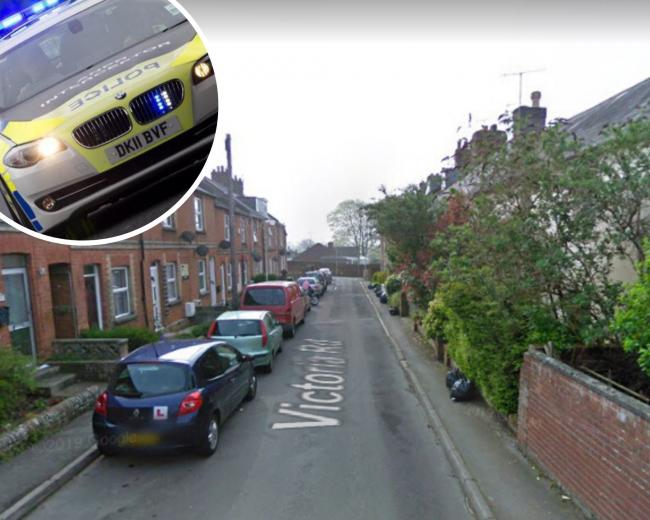 A man was attacked with a machete in an agravated burglary in Blandford