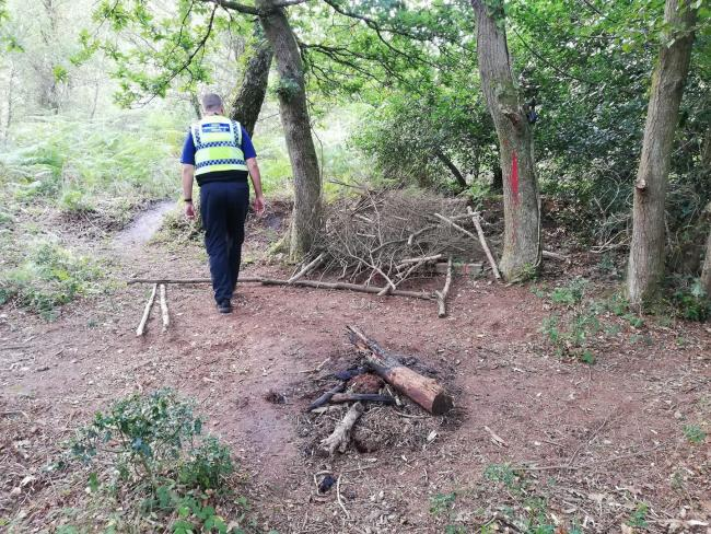 Police called to reports of people drinking and starting fires in Wareham Forest. Picture: Purbeck Police