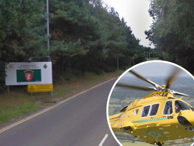 Two passengers are in hospital in a serious condition after a crash in King George V Road, Bovington. Picture: Google Maps/ Street View