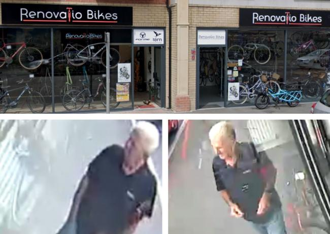 Images released by police after criminal damage at Renovatio Bikes in Boscombe. Top image: Google Maps/ Street View