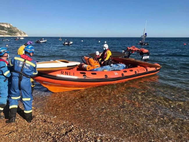Emergency services were initially called to Ringstead Picture: LULWORTH COASTGUARD RESCUE TEAM