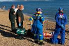 Coastguards went to the aid of a pensioner with a broken leg. Picture: Southbourne Coastguards.