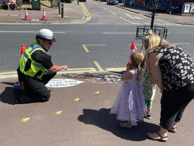 Bournemouth Echo: • PC Heidi Moxam talks road safety with young people