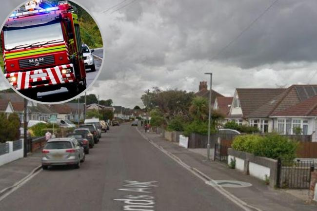 Crews were called to a fire in Woodlands Avenue, Poole on the morning on Saturday August 1 2020