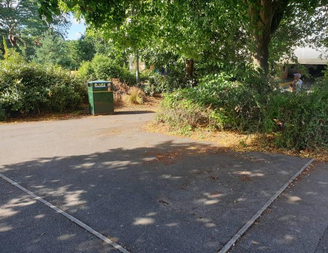 Police have removed benches from Teh Triangle in Bournemouth to deter anti-social behaviour. Picture: Bournemouth South Police