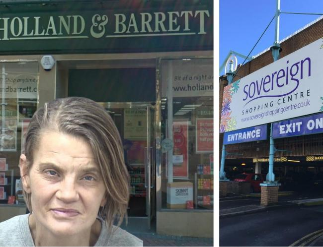 Madeleine Kreina Pankhurst assaulted staff at Holland and Barrett in Old Christchurch Road and Savers in the Sovereign Centre. Left store picture: Google Maps/Street View