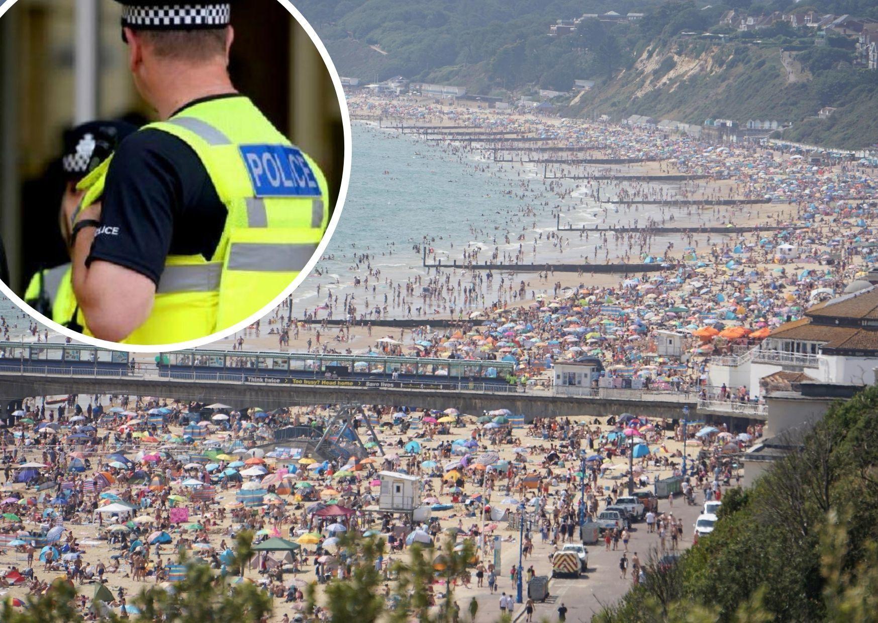 Police use PAVA spray to disperse crowds on Bournemouth beach