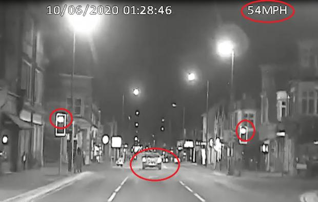 Bournemouth Echo: Coby Eke drove through red lights in Wimborne Road at Winton Banks. Footage: Dorset Police