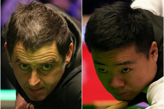 Ding Junhui starts his second round match against Ronnie O'Sullivan on Friday