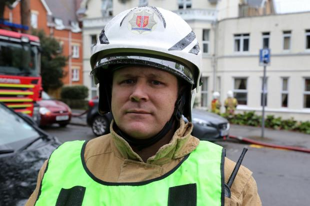 Bournemouth Echo: Fire service area manager Craig Baker