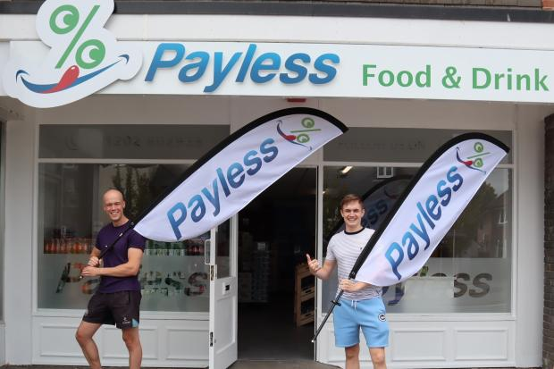 Nick Sellar and Jack Browne outside Payless
