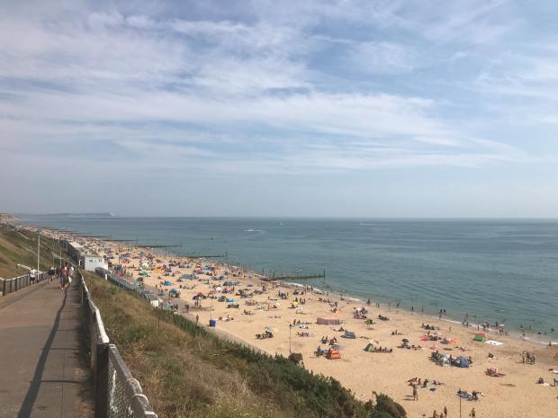 Bournemouth Echo: Southbourne Beach had fewer visitors on Saturday, August 8