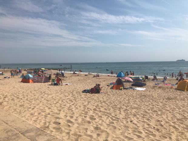 Bournemouth Echo: More social distancing was evident at Southbourne Beach