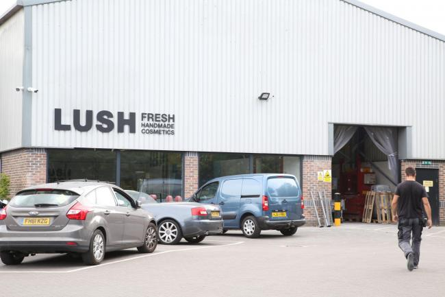 The Lush site on the Nuffield Industrial Estate in Poole
