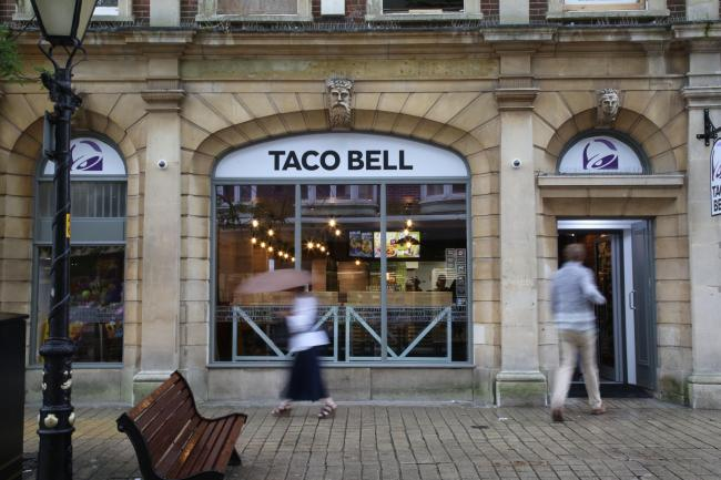 Taco Bell in Poole High Street.