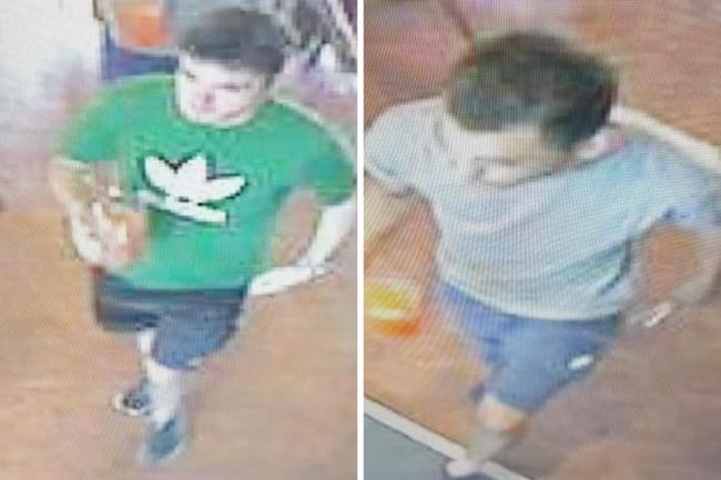 CCTV image of one of the men police want to speak to in connection with reported burglary and fraudulent bank card use