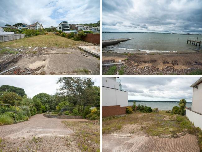 The empty plot of land near Sandbanks, which sold for £3.5million. Picture: Tom Wren/BNPS