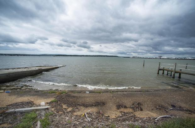 Bournemouth Echo: The site has its own slipway out onto Poole Harbour. Picture: Tom Wren/BNPS
