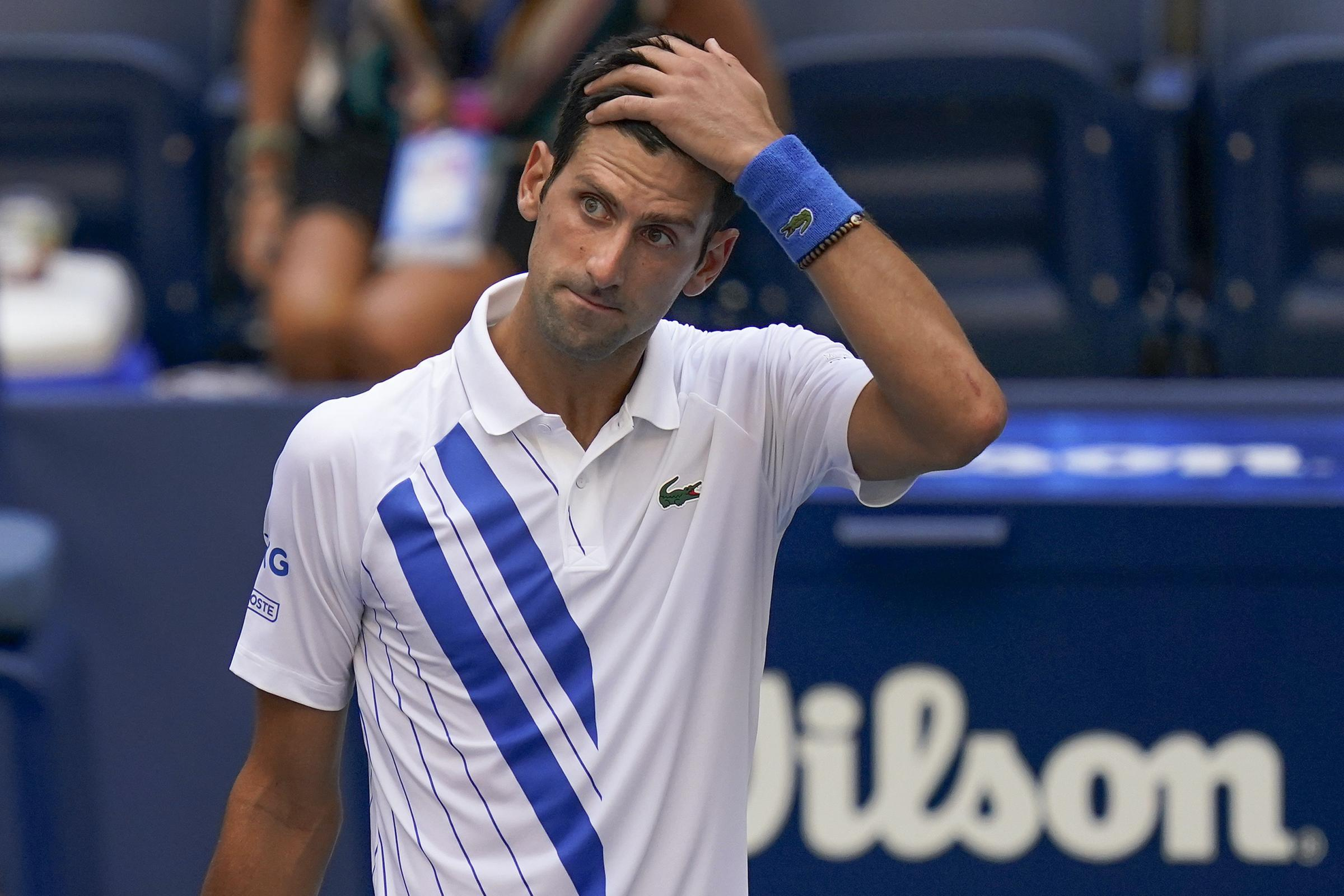 Novak Djokovic Disqualified From Us Open After Hitting Line Judge With Ball Bournemouth Echo
