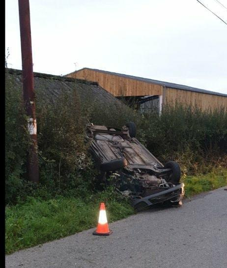 Emergency services were called to reports of an overturned car in Gillingham on Sunday, September 6. Picture: East Dorset Police
