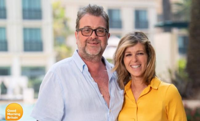 Kate Garraway gives update on husband Derek Draper as pair mark wedding anniversary. Picture: ITV/GMB