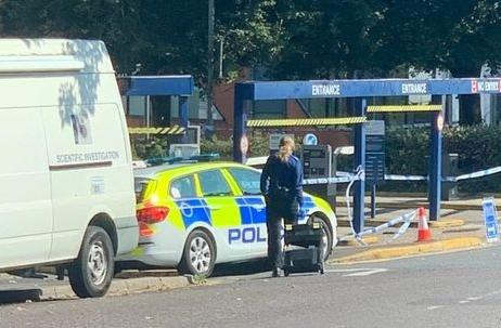 Bournemouth Echo: Forensics teams at Avenue Road car park. Picture: Stuart Sellars