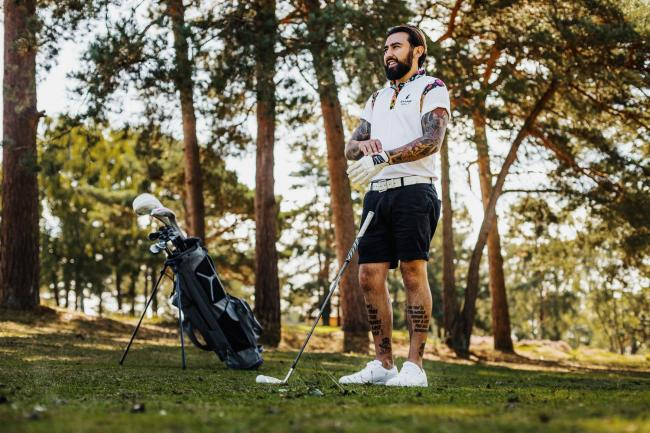 Harry Shaw launches business The Tattooed Golf Coach to encourage more people to play golf. Photo:Oliver Whillock Visuals