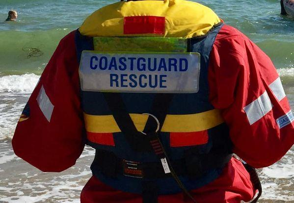 Coastguards wre called to reports of a person in the water at Durley Chine on Monday January 11 2021