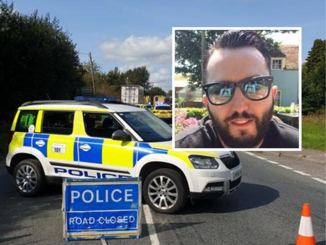 Tony Cassano, inset, died in a crash on the A350 on Saturday afternoon