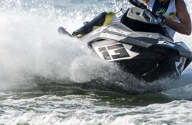 Stock photo of jet skier