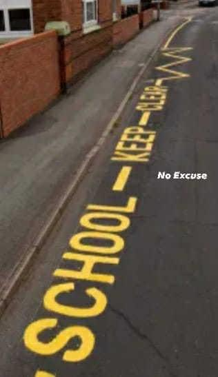 Dorset Police and Dorset Council are working together to stop people parking on zigzag lines outside schools. Picture: Dorset Police No Excuse