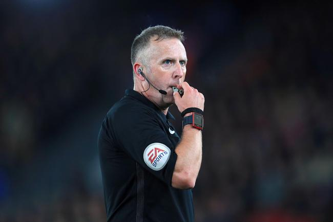 Jon Moss is the referee for tomorrow's Carabao Cup game between Man City and Cherries (Picture: Adam Davy/PA)