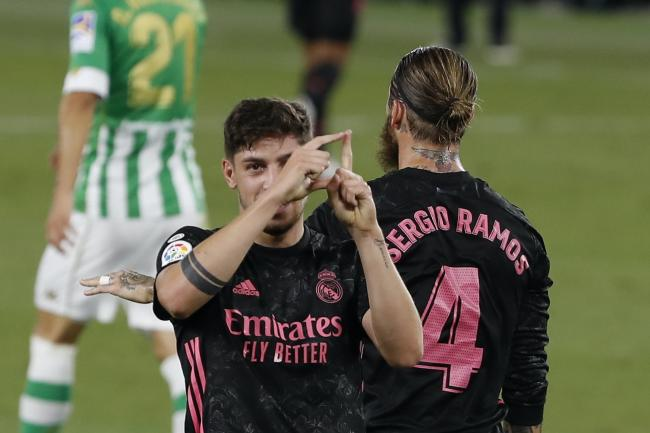 Real Madrid's Federico Valverde scored his side's opener in a 3-2 win at Real Betis