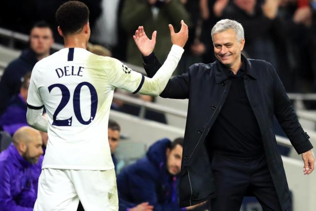 Tottenham manager Jose Mourinho says Dele Alli has been 'very professional' in his response to being left out of the first team.