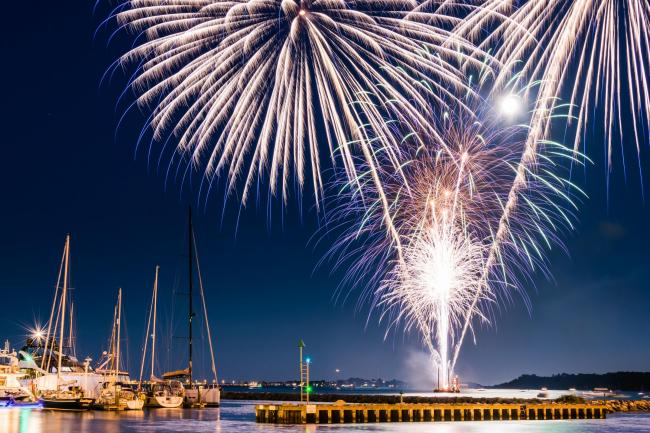 Poole Quay fireworks. Picture: Owen Vachell