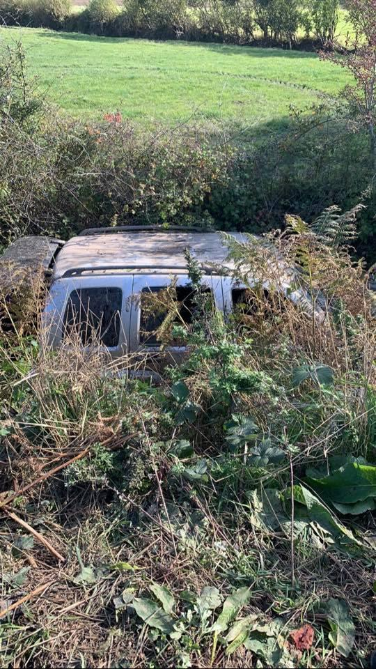 Police are appealing for information after finding a 4x4 in a ditch. Photo: Dorset Police Rural Crime Team